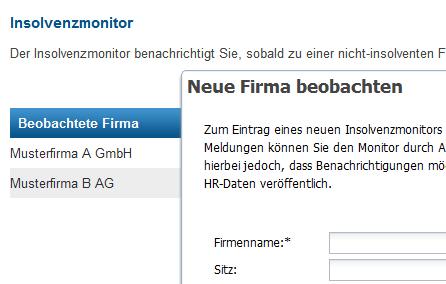 Insolvenz-Monitor - Automatisierte Überwachung Ihrer Geschäftspartner